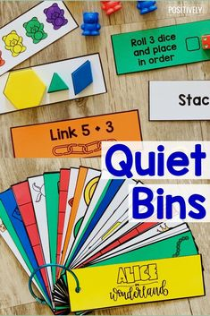 Sometimes we all just need a break! These Quiet Bins can be add to your calming corner, independent work tasks, or even indoor recess! This theme is Alice in Wonderland and includes fine motor activities with favorite characters and story quotes!