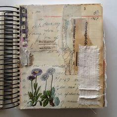 Book Art Collage Work Fabric Art …, - Sites new Art Journal Pages, Art Journals, Journal Ideas, Journal Sample, Visual Journals, Travel Journals, Journal Prompts, Bullet Journals, Journal Diary