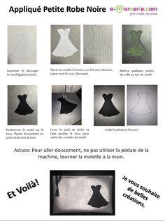 Appliqué Petite Robe Noire - Viny DIY, le blog de tutos couture.
