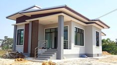 One Story Small House Plans Beautiful Captivating E Story House with 2 Bedrooms House and Small Modern House Plans, Simple House Plans, Beach House Plans, Simple House Design, Modern House Design, House Plans One Story, New House Plans, Story House, Modern Bungalow House