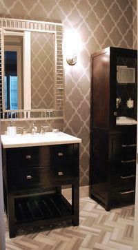 Candice Olson Living Room Design Ideas, Pictures, Remodel, and Decor - page 5 Powder Room Wallpaper, Bathroom Wallpaper, Of Wallpaper, Wallpaper Ideas, Candice Olsen Design, Candice Olson, Basement Makeover, Master Bathroom, Shower Bathroom