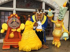 Beauty and the Beast Characters! I saw the show with them in it a couple years ago