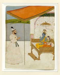 Raja Balwant Singh Revering Krishna and Radha Artist: Attributed to Nainsukh (active ca. 1735–78) Date: ca. 1745–50 Culture: India (Jasrota, Himachal Pradesh)