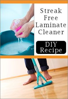 Laminate cleaner- A simple solution for streak-free cleaning. Homemade Cleaning Products, Cleaning Recipes, House Cleaning Tips, Natural Cleaning Products, Cleaning Hacks, Kitchen Cleaning, Cleaning Supplies, Cleaning Items, Cleaning Wood