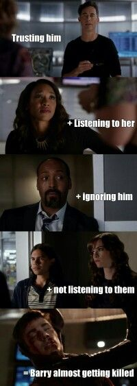 Barry learn your equations The Cw Shows, Dc Tv Shows, Supergirl Dc, Supergirl And Flash, Dc Memes, Funny Memes, Arrow Flash, Image Triste, Arrow Memes
