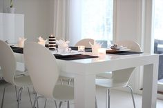 All you need is White Kitchen Dining, Dining Room, Dining Table, All You Need Is, Black And White, Interior, Modern, Inspiration, Furniture