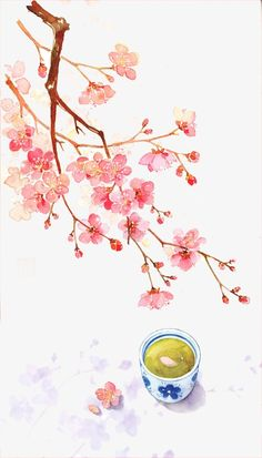 Chinese antiquity beautiful watercolor illustration, Chinese Style, Color Ink, Watercolor PNG Image and Clipart Art And Illustration, Watercolor Illustration, Illustrations, Anime Kunst, Anime Art, Watercolor Flowers, Watercolor Paintings, Watercolor Japan, Art Asiatique