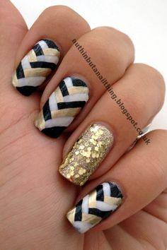 #gold #nails