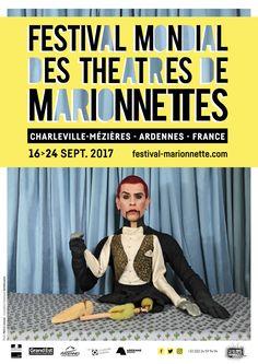 Affiche du Festival Mondial des Théâtres de Marionnettes 2017 / Photo : Mehryl Levisse - Graphisme : Daniella.paris