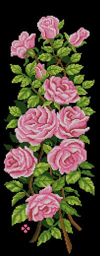 New embroidery rose pattern shabby chic ideas Cross Stitch Love, Cross Stitch Borders, Cross Stitch Flowers, Cross Stitch Designs, Cross Stitching, Cross Stitch Patterns, Rose Embroidery, Cross Stitch Embroidery, Embroidery Patterns