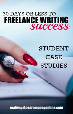 Have you thought about taking the 30 Days or Less to Freelance Writing Success eCourse? Here are some case studies from students who have been through it. Work From Home Companies, Work From Home Jobs, Make Money From Home, How To Make Money, Freelance Online, Freelance Writing Jobs, Make Money Writing, Writing Tips, 30 Day Writing Challenge