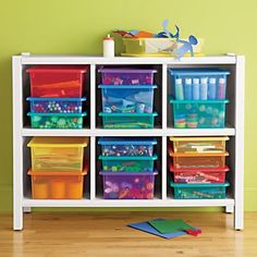 Kids' Storage Containers: Kids Colorful See-Through Stackable Box in Storage Collections