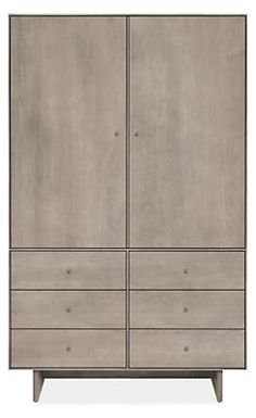 Hudson Armoires with Wood Base - Armoires - Bedroom - Room & Board