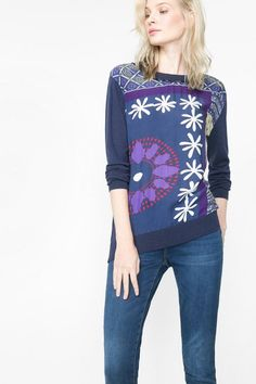 61J21K7_5000 Desigual Sweater Precious, Purple