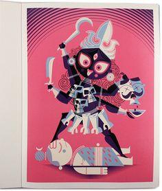 Art Divine: Hindu Mythologies in Pop Art style illustrations by Sanjay Patel of Pixar Studio Mother Kali, Indian Illustration, Art Beat, Kali Goddess, India Art, Indian Art Paintings, Hindu Deities, Illustrations And Posters, Gods And Goddesses