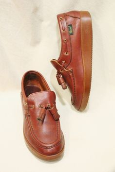 70'S~ BASS TASSEL LEATHER SHOES (BGDY) - PATINAS VINTAGE CLOSET