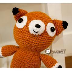 PDF Pattern Philly The Fox Amigurumi Plush Crochet Doll. #pattern #amigurumi