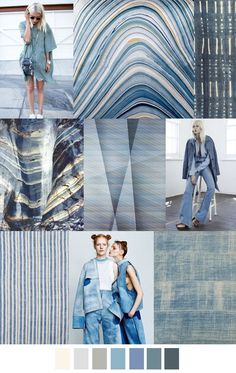 CHAMBRAY SHADES mood board, color palette