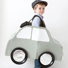 make a cute car halloween costume