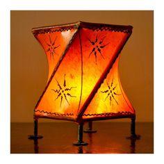 Orientalische Teelichter Marokkanische Leder Lampe Windlichter Croise Orange In Mbel Wohnen Beleuchtung