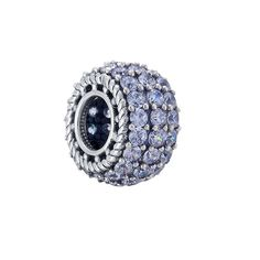 Sumerflos High End 925 Sterling Silver Eternity Charm Beads Specially Designed for Pandora Style Bracelets in Limited Edition by French Designers