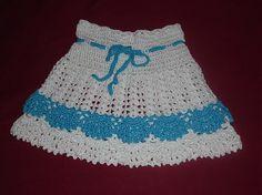 hačkovaná suknička pre dievčatko