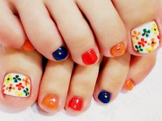 145 nail designs for toes that will make you feel zen – page 30 Pretty Toe Nails, Cute Toe Nails, Flower Nail Designs, Toe Nail Designs, Pedicure Nail Art, Toe Nail Art, Funky Nails, Trendy Nails, Feet Nail Design