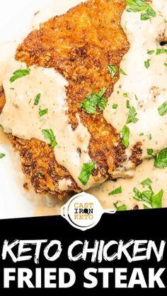 Chicken Eating, Keto Chicken, Ketogenic Diet Food List, Ketogenic Recipes, Beef Recipes, Chicken Recipes, Chicken Fried Steak, Lose Weight Fast Diet, Low Carb Keto