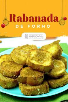 A versão de forno da receita de Natal mais tradicional que existe é só amor <3 - Primeiro porque Natal sem rabanada nem é Natal. Segundo porque rabanada de forno você pode comer sem culpa e sem neurose por conta da quantidade de gordura. Quer aprender? Confira o passo a passo agora mesmo!   #receitafacil #receitadenatal #receitasnatalinas #rabanada #rabanadadeforno #rabanadadenatal #ceiadenatal #comidacaseira #acasaencantada Brasil Travel, Creme, Muffin, Breakfast, Homemade Desserts, Holiday Desserts, Easy Desserts, Cakes, Desert Recipes