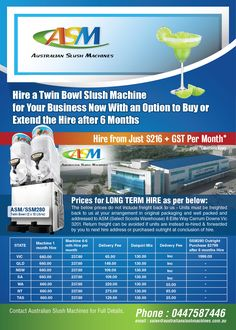 Hire your Slush Machine now for your business!