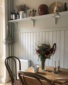 country home decor madebymor // Mia (ma - Dining Room Buffet Table, Dining Decor, Wood Table, Dining Area, Kitchen Dining, Kitchen Decor, Rustic Decor, Farmhouse Decor, Country Farmhouse