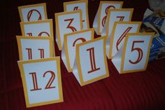diy table number cards