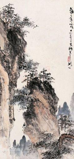 Zen Painting, Chinese Landscape Painting, Japan Painting, Chinese Painting, Landscape Paintings, Art Chinois, Chinese Artwork, Tinta China, Art Japonais