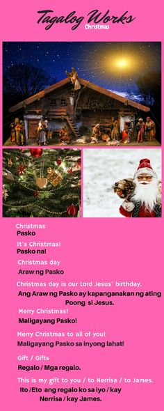 Christmas greetings in Tagalog. Tagalog Words, Christmas Greetings, Filipino, Language Arts, Philippines, Study, Christmas, Studio, Xmas Cards