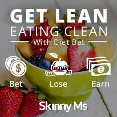 "Join our ""Get Lean Eating Clean"" Dietbet beginning March 30 and invite a friend using the invite tool within the game for a chance to win some cool prizes! Lose 4% of your weight in 4 weeks and WIN MONEY too! #DietBet #loseweight #weightloss #getleaneatingclean"