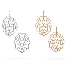 An intricate design to get everyones attention!Open work leaf/petal design earrings.Monarch Petals Collection:A rich texture finish gives these nature-inspired pieces an ultra-luxe quality. Entire collection available in silvertone or goldtone. Introducing Signature Collection: Effortless style that's totally wearable. Pieces that flatter your shape and fit in comfortably with your lifestyle. That's the heart of Avon's Signature Collection. Designed by Avon. Inspired by you....