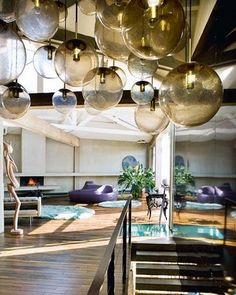 omg... I'd love a ceiling covered in baubles!