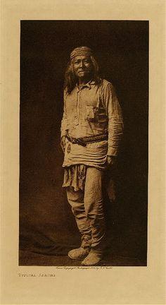 """Typical Apache"" - No name - Photo by Edward S. Curtis - 1906 - (Original)"