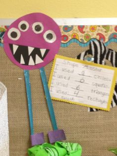 Shape Monsters: using shapes as components for pictures