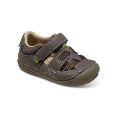 Stride Rite Antonio Sandal in Brown. #striderite #antoniosandal #babyboysandals #brown #sandals #baby #boy #cuteboysandals