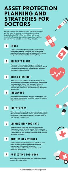 Asset Protection Planning And Strategies For Doctors - Infographic  http://www.assetprotectionpackage.com/asset-protection-planning-and-strategies-for-doctors/  Why doctors should protect their assets, with proper strategic planning.  https://youtu.be/G0d2JgbxV-g