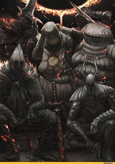 Personajes de Dark Souls. Composé