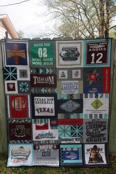I have all my t-shirts and the fabric I want for the back of the quilt...now I just need someone to do it for me!