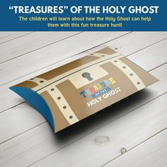 Treasures of The Holy Ghost activity - Great for Primary Sharing Time or Family Home Evening (LDS Primary Sharing Time Lesson - The Holy Ghost Can Help Me (May Primary Activities, Learning Activities, Baptism Talk, Red Headed Hostess, Notes To Parents, Lds Primary, Singing Time, Message In A Bottle, Holy Ghost