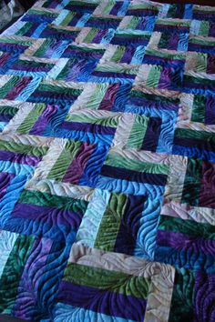 Simple pattern, beautiful quilting