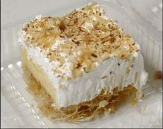 Greek Sweets, Greek Desserts, Cookie Desserts, Greek Recipes, Easy Desserts, Delicious Desserts, Ekmek Kataifi Recipe, Kataifi Pastry, Greek Cake