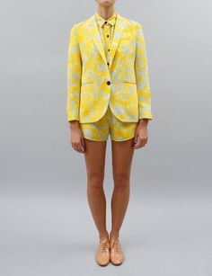 I must have this entire outfit! In love!    Creatures of Comfort Dree Blazer- Yellow Floral
