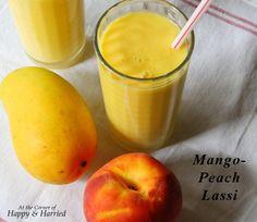 Indian Summer Cooler - Mango Peach Lassi.