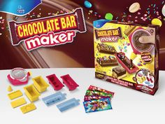 Say it with chocolate – create and give away fun pieces of chocolate with text. Chocograms Chocolate is fun and easy to use, can be used over and over again! Chocolate Bar Maker, Snack Recipes, Snacks, Pop Tarts, Stocking Stuffers, Cravings, Gadgets, Dining, Cool Stuff