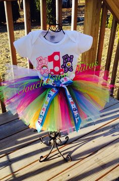Care Bear Tutu birthday outfit  pick your number by TouchdownTutus, $49.00